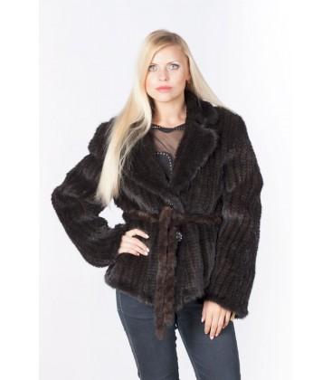 0309 Куртка из вязаной норки