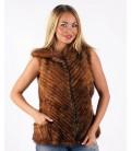 0223 Жилет из вязаной норки