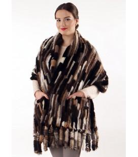 Палантин из вязаной норки 60 см Kenzo