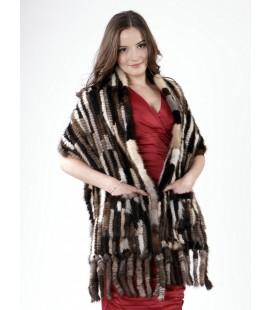 Палантин из вязаной норки 40 см Kenzo