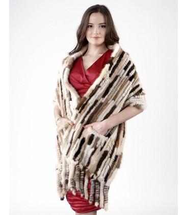 Палантин из вязаной норки 40 см Kenzo/