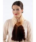 2119 Шарфик-розочка из вязаного кролика комбинированный
