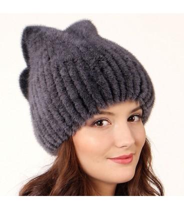 1007 меховая шапка на вязаной основе лекс маркет