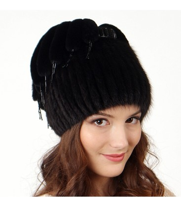 женская меховая шапка из ондатры сшитая в роспуск купить в москве