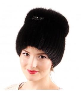 1209 Меховая шапка на вязаной основе.