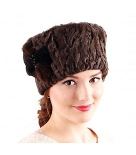 1905 Женская меховая шапка из каракуля