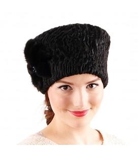 0692 Женская меховая шапка из каракуля