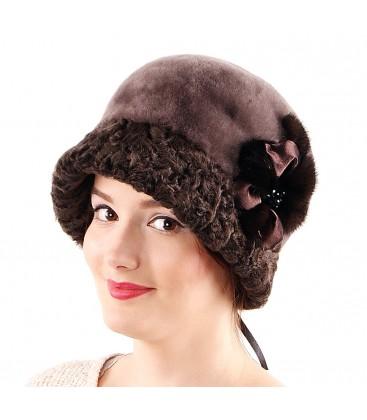 0693 Женская шапка из мутона
