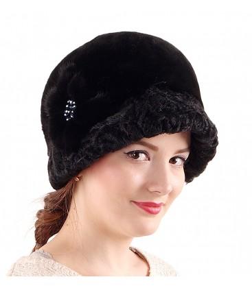 0694 Женская шапка из мутона