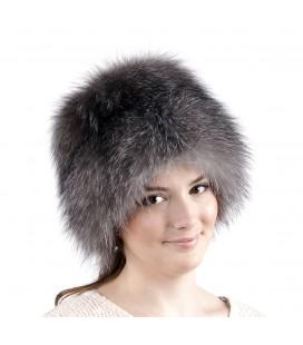 1402 Меховая шапка на вязаной основе.