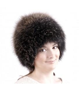 1404 Меховая шапка на вязаной основе.