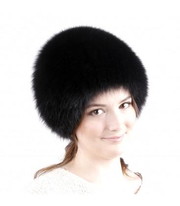 0740 Меховая шапка на вязаной основе.