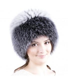 1407 Меховая шапка на вязаной основе.