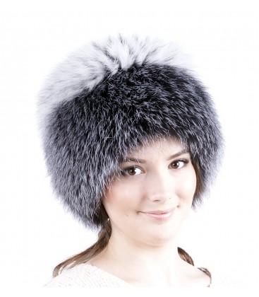 0741 Меховая шапка на вязаной основе.