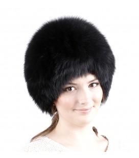1408 Меховая шапка на вязаной основе.