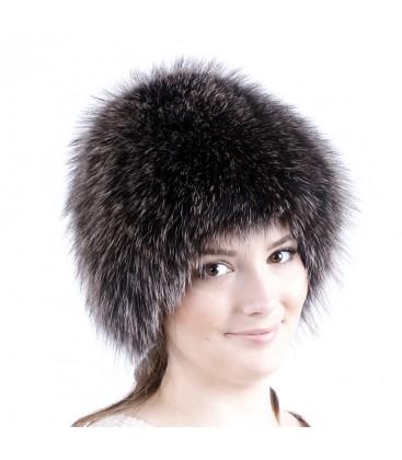 0743 Меховая шапка на вязаной основе.