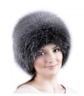 1410 Меховая шапка на вязаной основе.