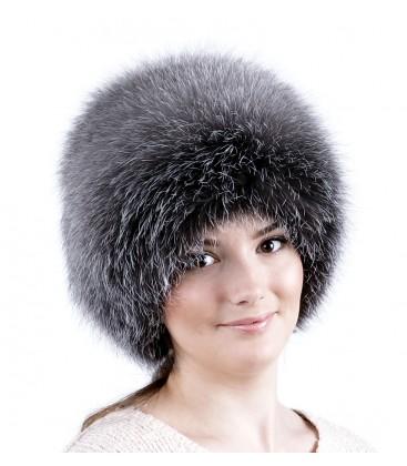 0744 Меховая шапка на вязаной основе.