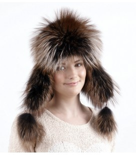 0761 Меховая шапка из чернобурки