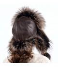 1504 Меховая шапка из чернобурки