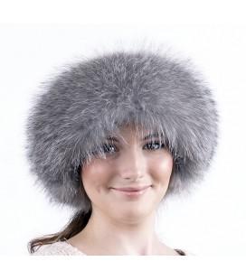 1513 Меховая шапка боярка серая