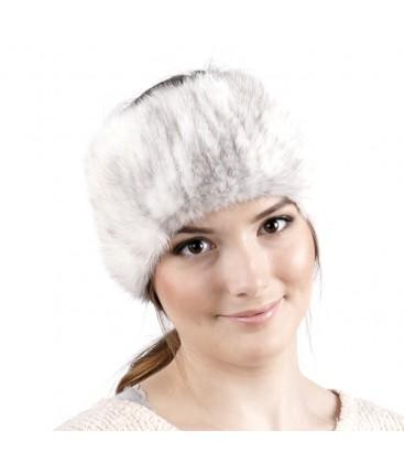 Вязаная повязка на голову из норки