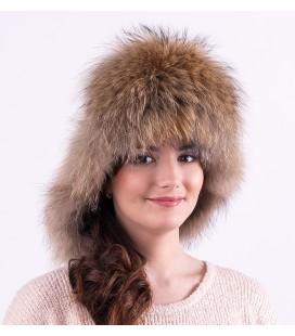 Женская меховая шапка малахай.