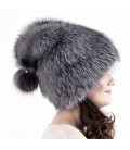 1411 Женская меховая шапка на трикотажной основе.
