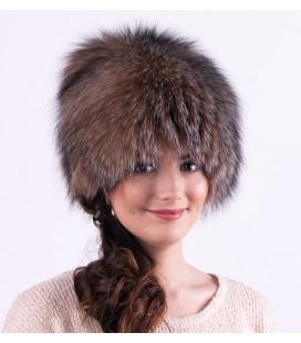 1412 Женская меховая шапка на трикотажной основе.
