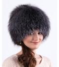 1413 Женская меховая шапка на трикотажной основе