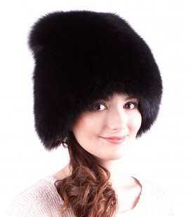 1414 Женская меховая шапка на трикотажной основе.