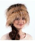 1415 Женская меховая шапка на трикотажной основе.