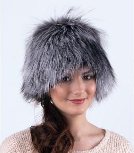 1416 Женская меховая шапка на трикотажной основе.