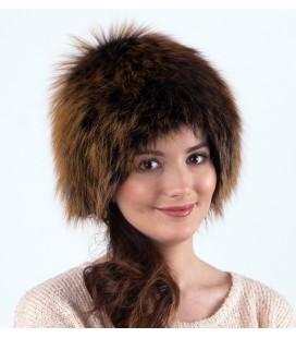 1417 Женская меховая шапка на трикотажной основе