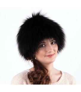 1419 Женская меховая шапка на трикотажной основе