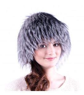 1420 Женская меховая шапка на трикотажной основе