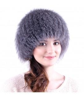 Женская меховая шапка на трикотажной основе