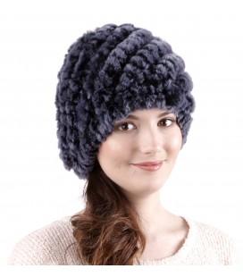 0930 Женская меховая шапка из вязаного кролика