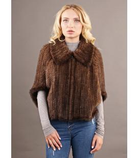 0307 Куртка из вязаной норки 60 см орех.