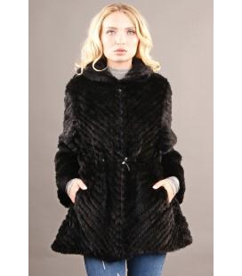 0320 Куртка из вязаной норки поперечная 80 см.