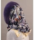 1704 Капор платок из цельной норки