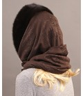 1705 Капор платок из цельной норки