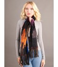 Шарф из вязаной норки 20 см