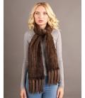 2135 Шарф из вязаной норки 20 см