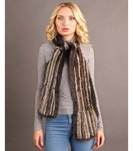 Шарф из вязаной норки 12 см