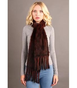 2107 Шарф из вязаной норки 20 см