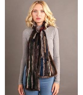 2145 Шарф из вязаной норки 12 см