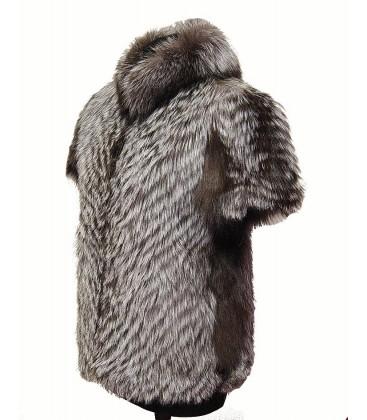 0229 Меховой жилет из чернобурки